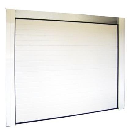 Bon plan porte de garage sectionnelle blanche motoris e for Ouverture porte de garage avec smartphone