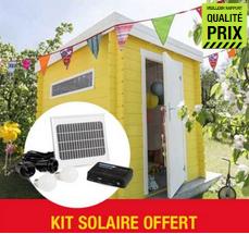 bon plan kit solaire offert pour l 39 achat d 39 un abri bois luoman aurinko chez leroy merlin. Black Bedroom Furniture Sets. Home Design Ideas