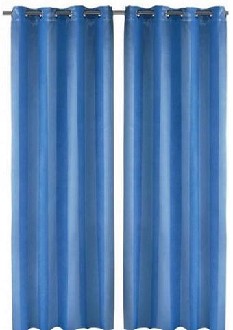 bon plan la paire de rideaux occultant ray s bleus 36. Black Bedroom Furniture Sets. Home Design Ideas