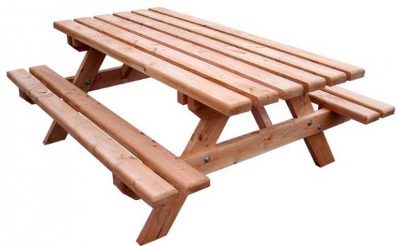 bon plan la table pique nique foresti re en bois 355 seulement chez botanic. Black Bedroom Furniture Sets. Home Design Ideas