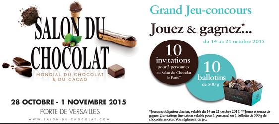 Invitation gratuite salon du chocolat lille - Invitation gratuite salon du chocolat ...