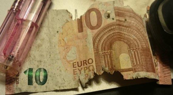 billet de banque abime