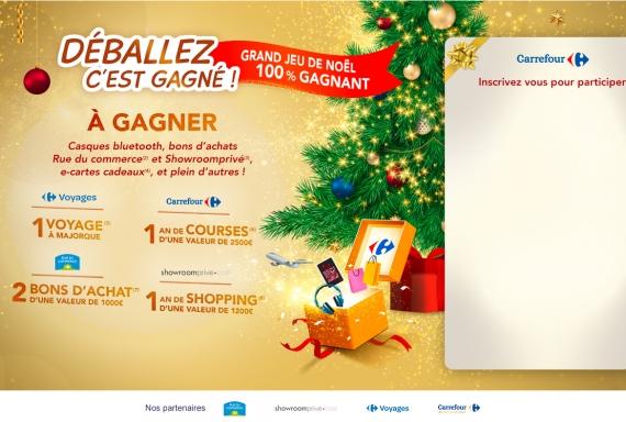 Carrefour Grand Jeu De Noel 100 Gagnant Autres Concours