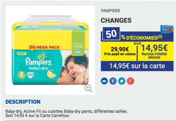 100 couches pampers pour catalogue et prospectus - Bon de reduction couches pampers a imprimer ...