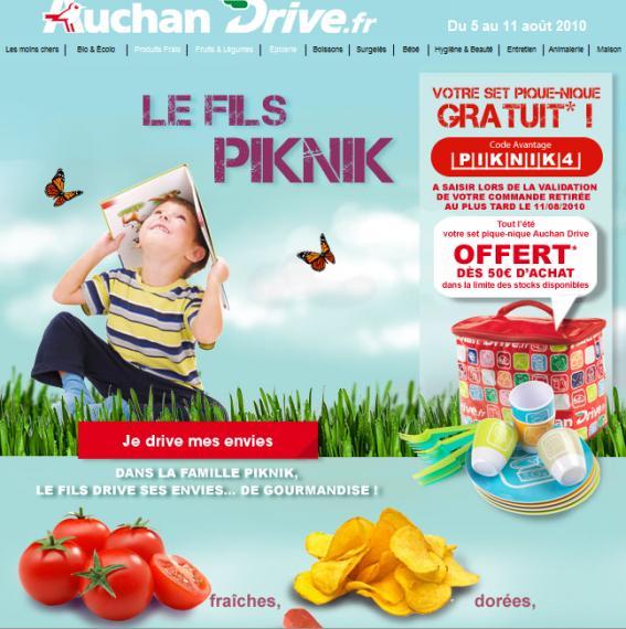 Bon plan Auchan Drive : Offre de remboursement