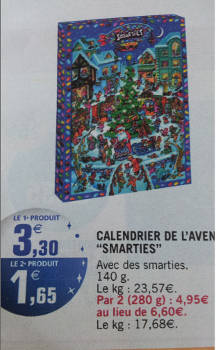votre calendrier de l 39 avent smarties gratuit. Black Bedroom Furniture Sets. Home Design Ideas