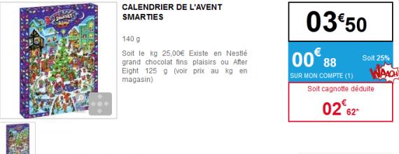 Votre calendrier de l 39 avent smarties gratuit - Carrefour calendrier de l avent ...