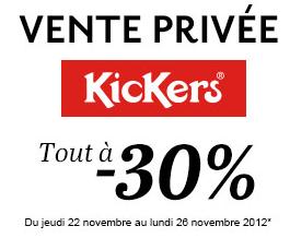 Vente privée Kickers chez Sarenza