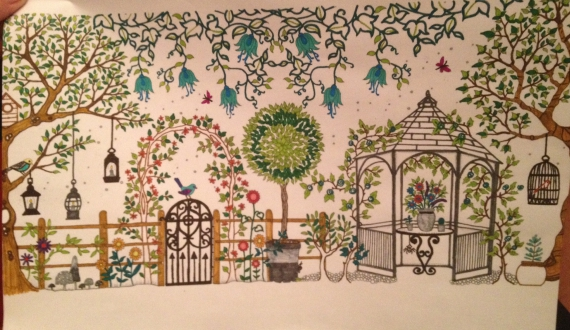 Coloriage art therapie anti stress echantillons for Jardin secret des hansen